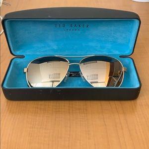 Ted Baker London Mirror Gold Sunglasses NWOT